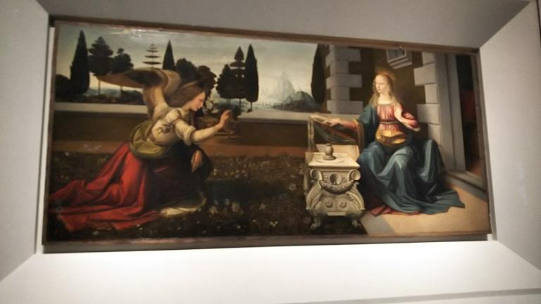 ダヴィンチ《受胎告知》マリア様の驚きと喜びの表情