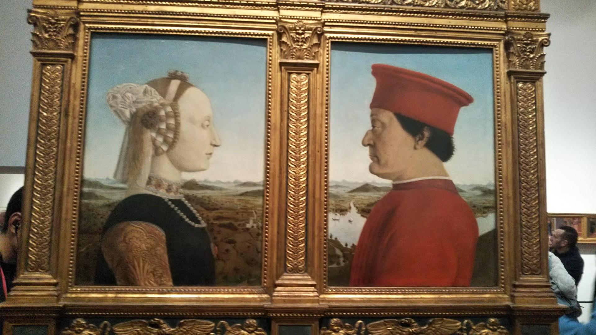 ピエロデッラフランチェスカ《ウルビーノ侯爵夫妻の肖像》現在学んでいる