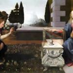 ウフィツィ美術館所蔵の《受胎告知》