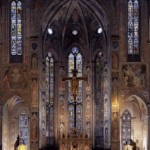 サンタクローチェ聖堂の主祭壇の壁画がガッディ