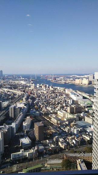 大阪のホテルから