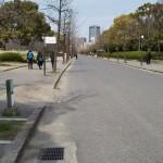 大阪城公園内の道路