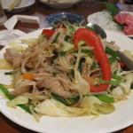 お肉たっぷり野菜炒め