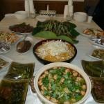 テーブル一杯のお料理。どれも美味しかった!!
