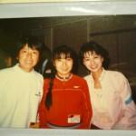 大阪国際のパーティー。向かって右が私で左端がYUMIちゃん