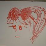 PZのお嬢が書いてくれた私の似顔絵