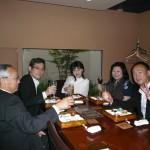 9月3日の打ち合わせを兼ねた食事会、隣の女性はモンテネグロ領事館の補佐官