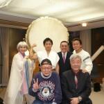 私の仲間、前列は仲築間氏、須藤甚一郎氏、後列井口成人氏、山田実氏、TAKERU