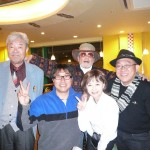 向かって左から須藤甚一郎氏・石山かつみ氏・柳亭楽輔師匠
