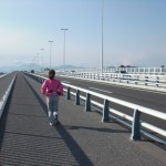 湘南大橋。向かい風で全然進めなーい!