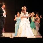 「椿姫」ビオレッタ役の田原ちえさんののびやかな歌声が会場に響き渡る