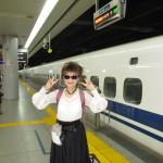 新幹線にも乗って旅気分