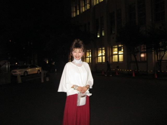 夜間スクもファッションを楽しみます(笑)