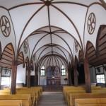 コウモリ天井はゴシック建築を模している(大明寺教会)