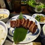 〆は仙台牛タン定食