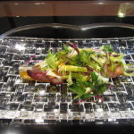 前菜はヤリイカのサラダ仕立て