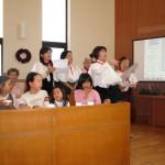 ボランティアグループの奉唱