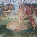 フィレンツェのウフィッツ美術館の代表作「ビーナス誕生」