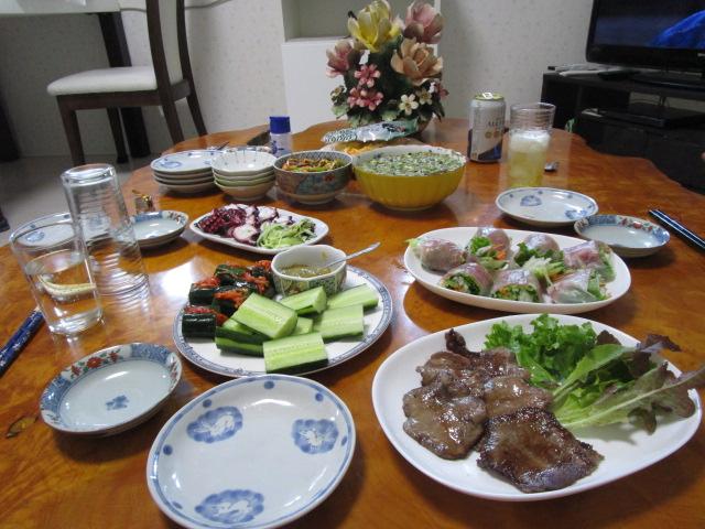 私の誕生会はS江ちゃんの手作り料理で