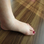 10日午後の脚(むくんで足首がない)