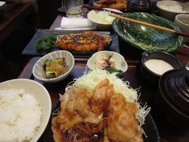 生姜焼き&トンカツドーン