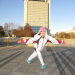 走り初めは茨木県庁周辺で