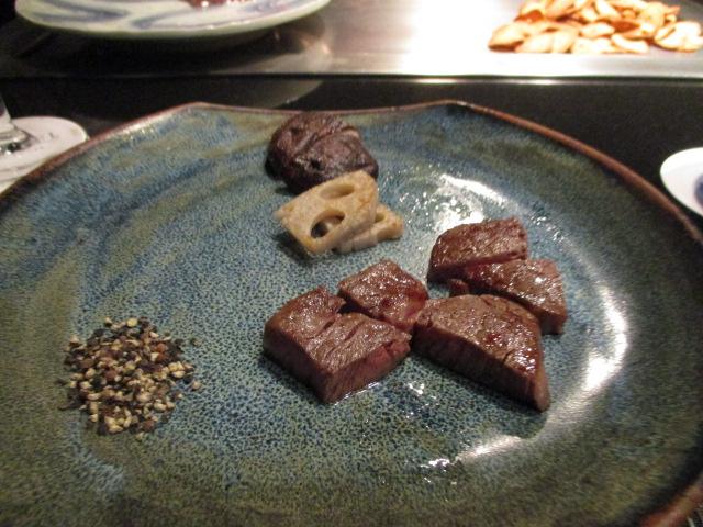 大阪の鉄板焼きこれは半分の量