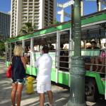 循環バスに乗ってお買い物