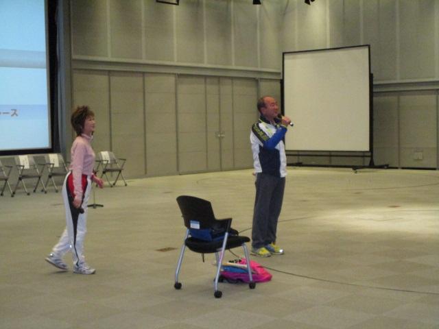 盲人マラソン協会による伴走教室