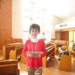 大船教会で練習してデイケアセンターへ