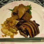 前菜(豚耳・筍・揚げ麩)